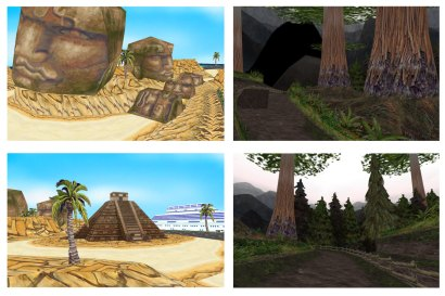 ATV racing stage concepts.