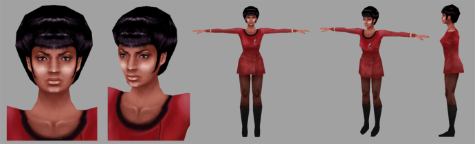 Uhura model turn-around