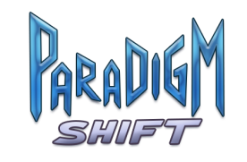"Logo for Georgia Fall Game Jam 2012 Entry ""Paradigm Shift."""