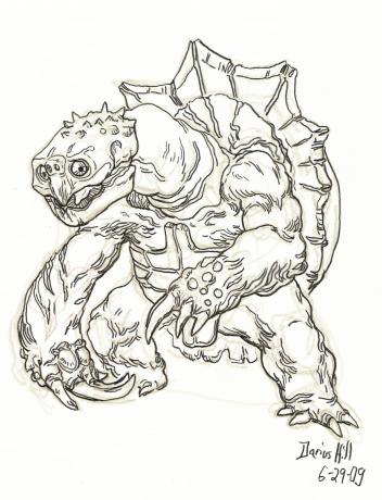 """My 1st attempt at an original """"Monster Hunter"""" creature."""