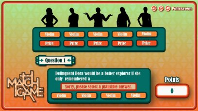 Scientific Games - Match Game - Bad Answer Screen