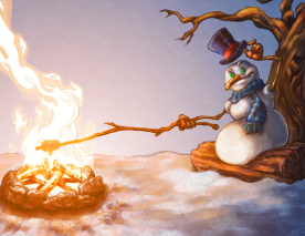 Campin' Snowman