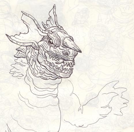 Baragon_Sketch